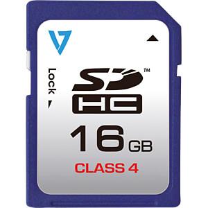 SDHC-Speicherkarte 16GB, Class 4 V7 VASDH16GCL4R-2E