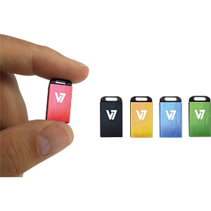USB-stick, USB 2.0, 4 GB, Nano V7 VU24GCR-RED-2E