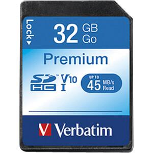 SDHC-Speicherkarte 32GB, Verbatim Class 10 - U1 VERBATIM 43963