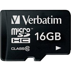 VERBATIM 44010 - MicroSDHC-Speicherkarte 16GB