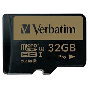 MicroSDHC-Speicherkarte 32GB - Verbatim - Class 10 - U3 VERBATIM 44033