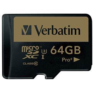 MicroSDXC-Speicherkarte 64GB - Verbatim - Class 10 - U3 VERBATIM 44034