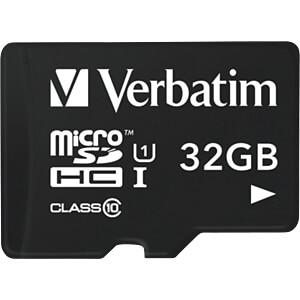 MicroSDHC-Speicherkarte 32GB, Verbatim - Class 10 VERBATIM 44059