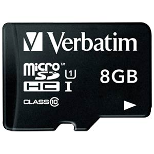 MicroSDHC-Speicherkarte 8GB - Verbatim - Class 10 VERBATIM 44081