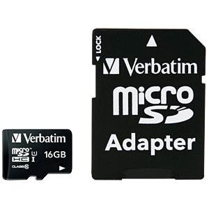 MicroSDHC-Card 16GB - Verbatim - Class 10 VERBATIM 44082