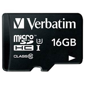 MicroSDHC-Speicherkarte 16GB - Verbatim - Class 10 - U3 VERBATIM 47040