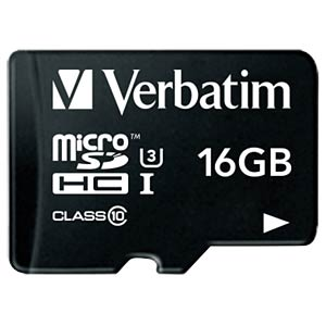 MicroSDHC-Card 16GB - Verbatim - Class 10 - U3 VERBATIM 47040