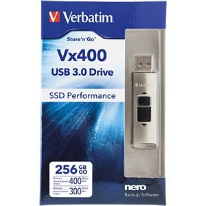 USB3.0-stick 256GB Verbatim VX400 VERBATIM 47691