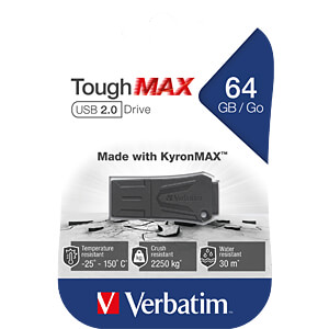 USB2.0-stick 64GB Verbatim ToughMAX VERBATIM 49332