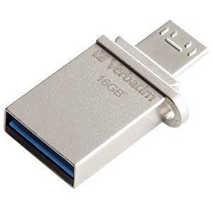 USB-Stick, USB 3.0, 16 GB, Store´n´Go OTG VERBATIM 49825