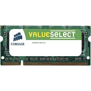 1024 MB SO DDR2 533 Corsair CORSAIR VS1GSDS533D2