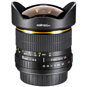 Fisheye-Objektiv, 8 mm, für Canon EF-S WALIMEX 16254