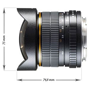 Fisheye Lens, 8 mm, for Canon EF-S WALIMEX 16254