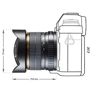 Objektiv, Foto, 8mm, Fisheye, Canon EF-S WALIMEX 16254