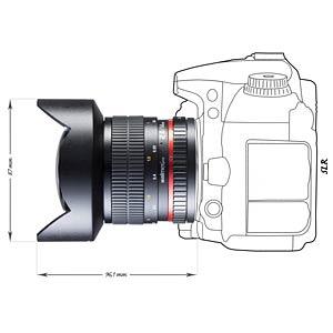 Objektiv, 14 mm, für Canon EF WALIMEX 16482