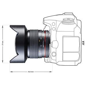 Objektiv, 14 mm, für Nikon F AE WALIMEX 16962
