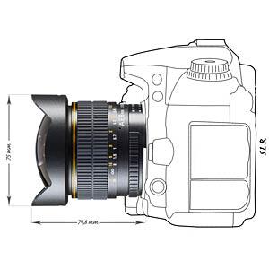 Objektiv, Foto, 8mm, Fisheye, Nikon F WALIMEX 17568