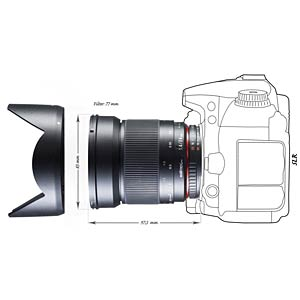 MF Lens, 24 mm, for Nikon WALIMEX 18328