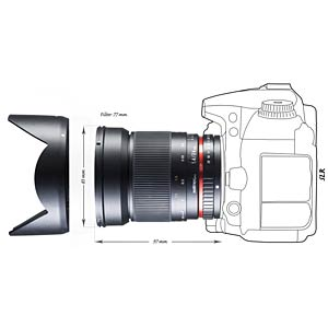Lens, 24 mm, for Sony A WALIMEX 18330