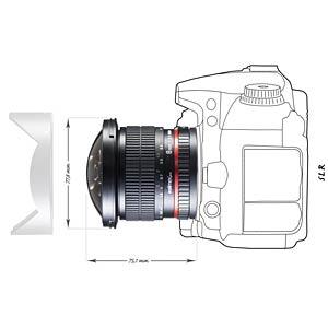 MF-Fisheye-Objektiv, 8 mm, für Canon WALIMEX 18698