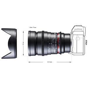 Video lens, 35 mm, for Sony E WALIMEX 18713