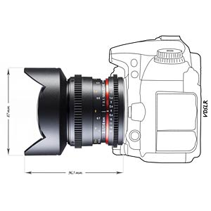 Video lens, 14 mm, for Canon EF WALIMEX 18823
