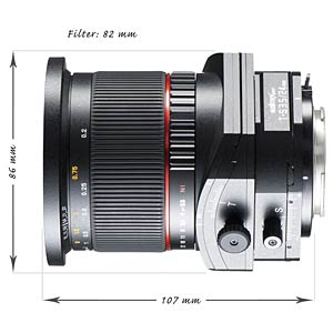 Tilt and shift lens, 24 mm, for Nikon F WALIMEX 18894