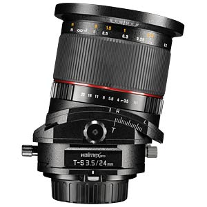 Objektiv, Foto, 24mm, Tilt- und Shift, Canon EF/EF-S WALIMEX 18895