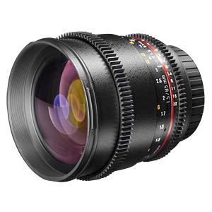 Video lens, 85 mm, for Canon EF WALIMEX 19449