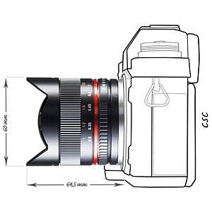 Fisheye-Objektiv, 8 mm, für Sony E WALIMEX 19916