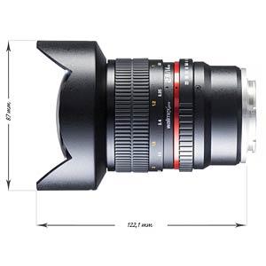 Objektiv, 14 mm, für Sony E WALIMEX 20115