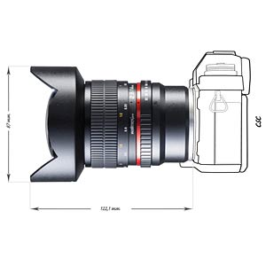 Lens, 14 mm, for Sony E WALIMEX 20115