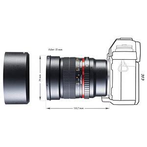 Objektiv, 85 mm, für Sony E WALIMEX 20123