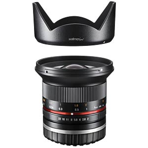 Weitwinkelobjektiv, 12 mm, für Sony E-Bajonett WALIMEX 20155