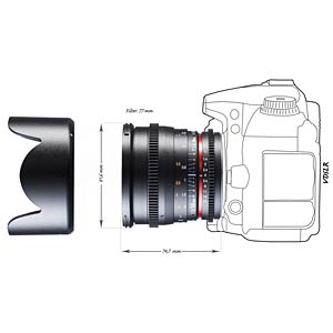 Video lens, 50 mm, for Canon EF WALIMEX 20402