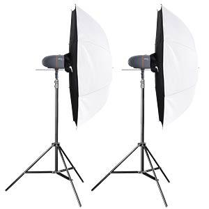 Set: 2x studio flash, 2x tripods, 2x umbrella softboxes WALIMEX 21321