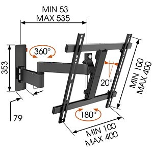 LCD Wandhalter VOGELS 73201986