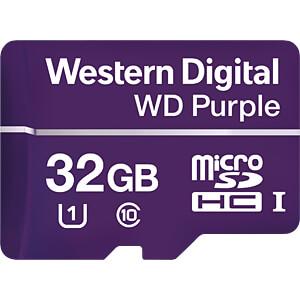 MicroSDHC-Speicherkarte 32GB - WD Purple - Class 10 - U1 WESTERN DIGITAL WDD032G1P0A