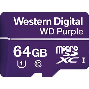 MicroSDXC-Speicherkarte 64GB - WD Purple - Class 10 - U1 WESTERN DIGITAL WDD064G1P0A
