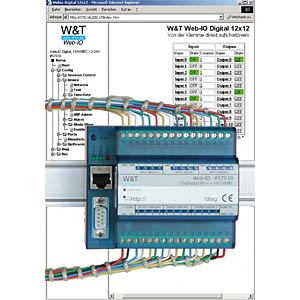 Web-IO, 12xDigi-In, 12xDigi-Out WIESEMANN+THEIS 57630