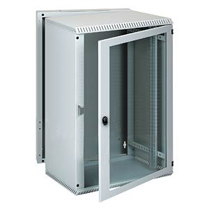 "48.3cm (19"") wall-mounted housing, 18 rack units, SG FREI"