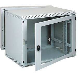 "48.3cm (19"") wall-mounted housing, 12 rack units, SG FREI"