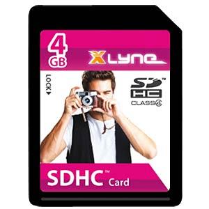 SDHC-Karte 4GB - Class 4 XLYNE 7204000