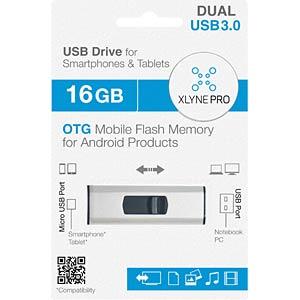 USB-Stick, USB 3.0, 16 GB, Dual OTG XLYNE 7516003