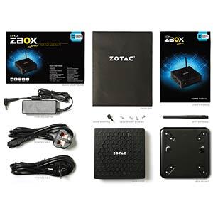 Barebone Mini-PC, ZBOX CI323 nano ZOTAC ZBOX-CI323NANO-BE