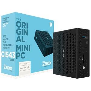Barebone Mini-PC, ZBOX CI543 nano ZOTAC ZBOX-CI543NANO-BE