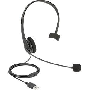DELOCK 27177 - USB-Mono-Headset mit Lautstärkeregler