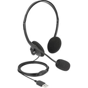 DELOCK 27178 - USB-Stereo-Headset mit Lautstärkeregler