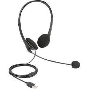 DELOCK 27179 - USB-Stereo-Headset mit Lautstärkeregler