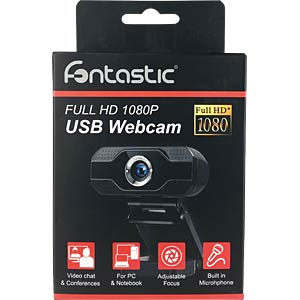 FONTASTIC 257001 - Webcam USB Full HD 1080p